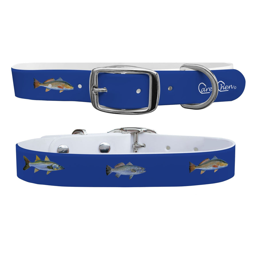 Carey Chen - Bio Series Inshore Grand Slam Navy Dog Collar Dog Collar C4 BELTS