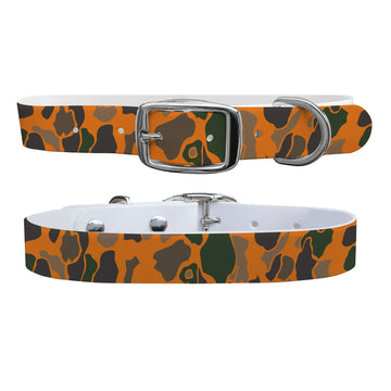 Orange Brigadier Camo Dog Collar Dog Collar C4 BELTS