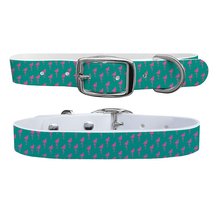 ETA Little Flamingos Dog Collar Dog Collar C4 BELTS