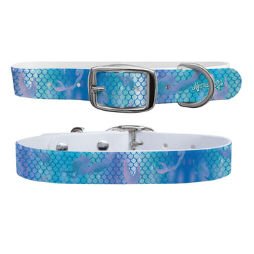 Mermaid Life - Hypnotic Scales Blue Dog Collar Dog Collar C4 BELTS