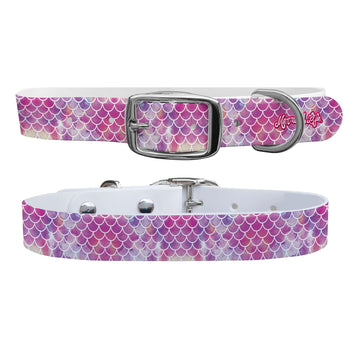 Mermaid Life - Hypnotic Scales Pink Dog Collar Dog Collar C4 BELTS