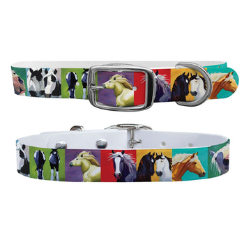 Leslie Anne Webb - Big Horse Art Dog Collar Dog Collar C4 BELTS