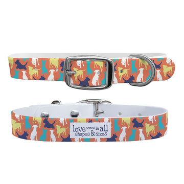 Atlanta Rescue Dog Cafe - Love Comes in All Sizes (Colors) Dog Collar Dog Collar C4 BELTS