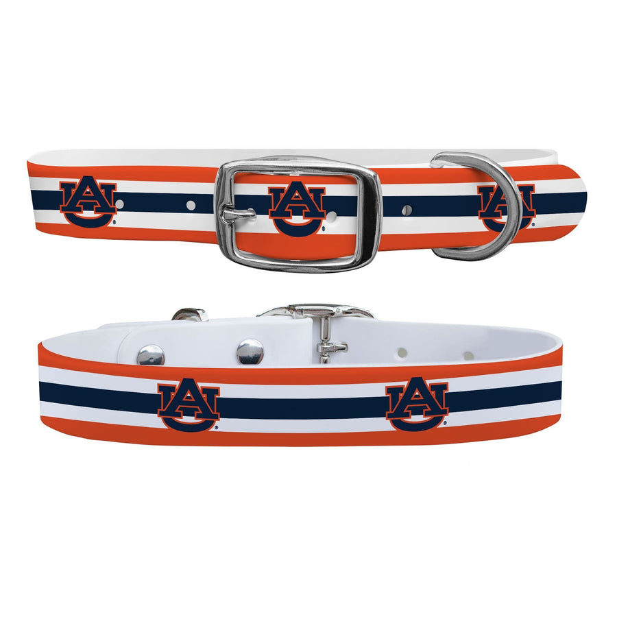 Auburn University Stripes Dog Collar Dog Collar C4 BELTS