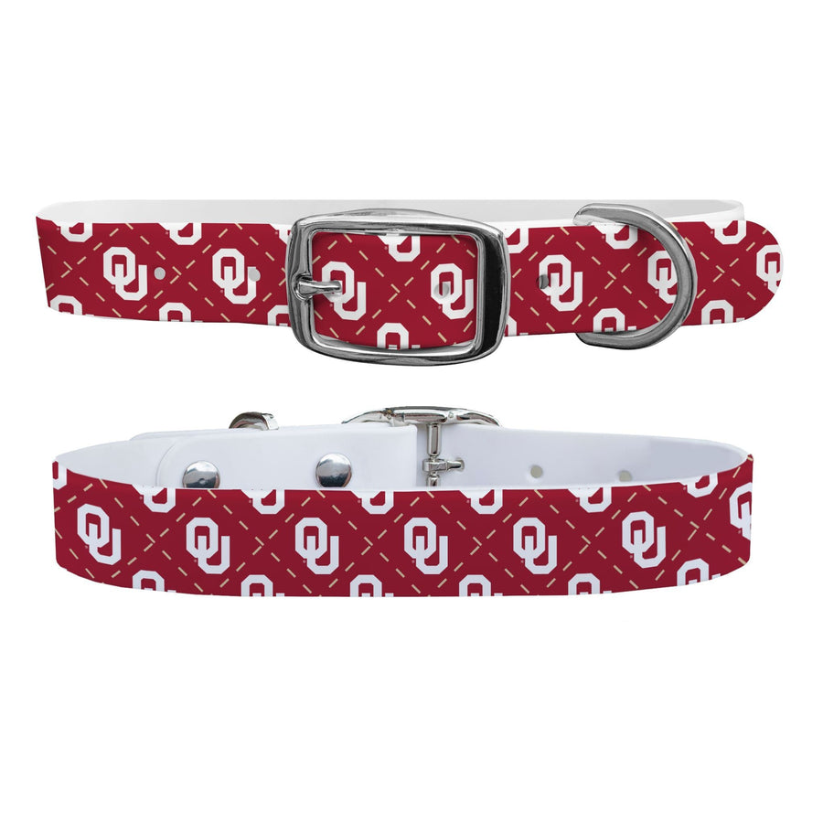 University of Oklahoma Argyle Dog Collar Dog Collar C4 BELTS