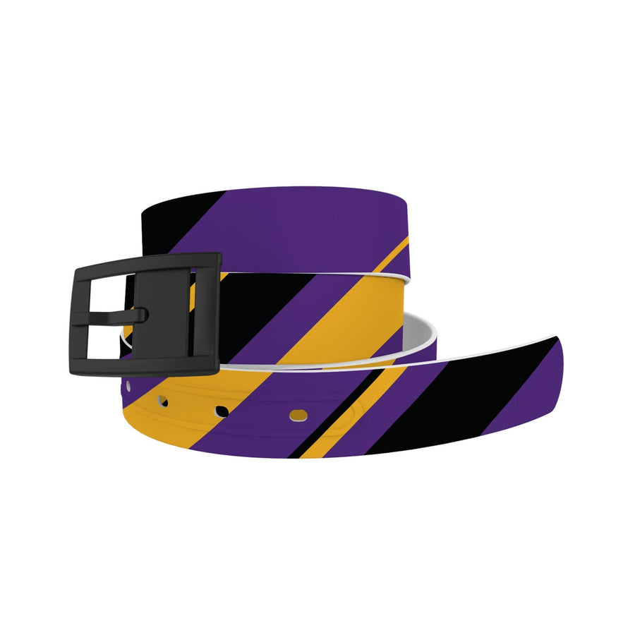 Los Angeles Basketball Color Block Team Spirit Belt Belt-Classic C4 BELTS