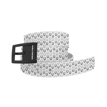 Horseshoes White Belt Belt-Classic C4 BELTS