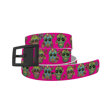 Sugarskulls Hot Pink Belt Belt-Classic C4 BELTS