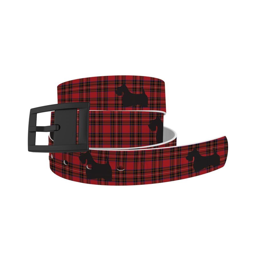 Scottie Dog Plaid Belt Belt-Classic C4 BELTS