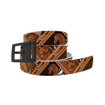 Horse on the L O O S E - Dressage Brown Belt Belt-Classic C4 BELTS