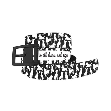 Atlanta Rescue Dog Cafe - Love Comes in All Sizes (B+W) Belt Belt-Classic C4 BELTS