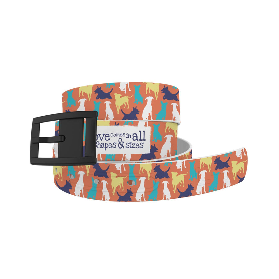 Atlanta Rescue Dog Cafe - Love Comes in All Sizes (Colors) Belt Belt-Classic C4 BELTS