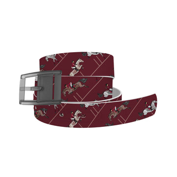 Horse on the L O O S E - Burgundy Jumper Belt Belt-Classic C4 BELTS