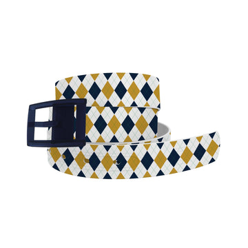 University of Notre Dame Argyle Team Spirit Belt Belt-Classic C4 BELTS