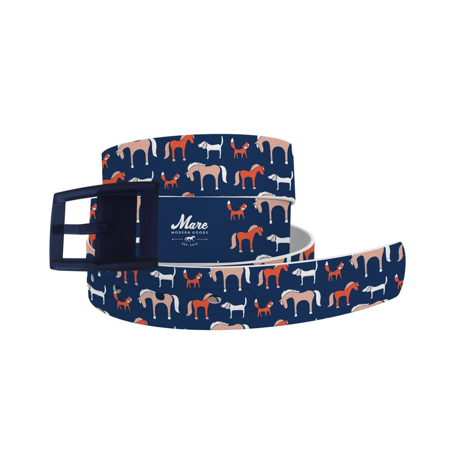 Mare Modern Goods - Foxy Dog Navy Belt-Classic C4 BELTS