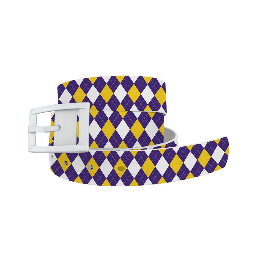Louisiana State Argyle Team Spirit Belt Belt-Classic C4 BELTS
