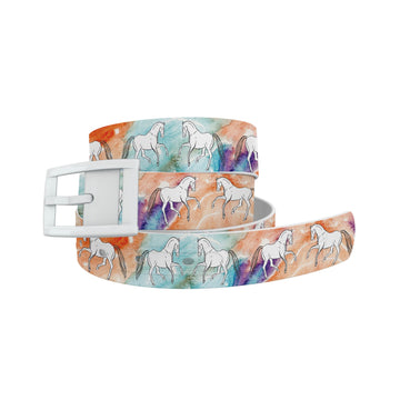 Decidedly Equestrian - Watercolor Belt Belt-Classic C4 BELTS