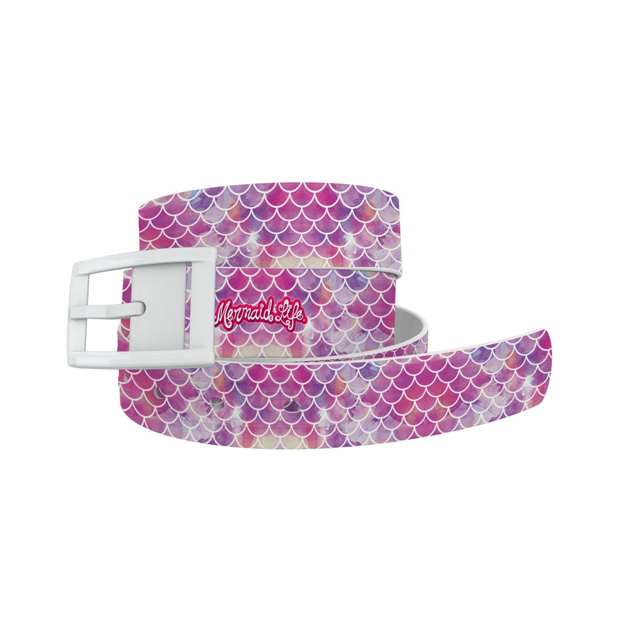 Mermaid Life - Hypnotic Scales Pink Belt Belt-Classic C4 BELTS