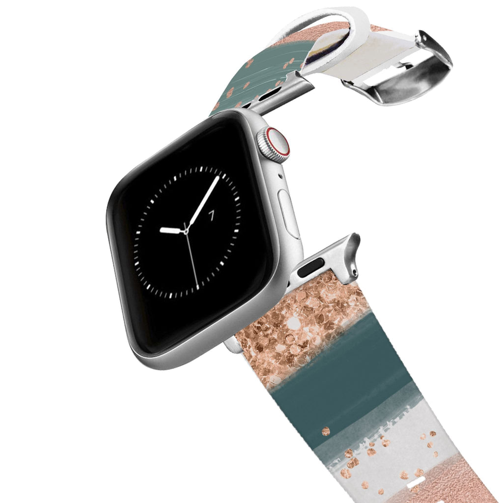Blush Strokes Apple Watch Band Apple Watch Band C4 BELTS