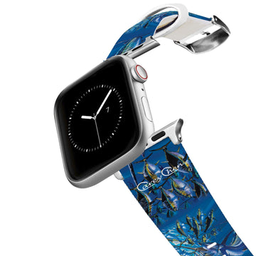 Carey Chen - Art Series Blue Marlin Chase Apple Watch Band Apple Watch Band C4 BELTS