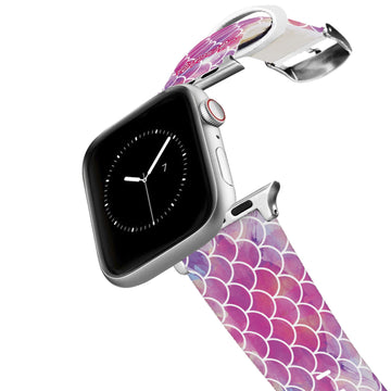 Mermaid Life - Hypnotic Scales Pink Apple Watch Band Apple Watch Band C4 BELTS