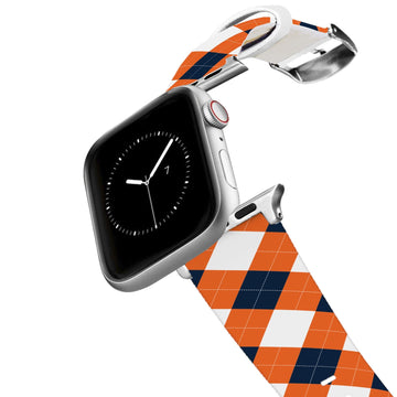 Auburn University Argyle Team Spirit Apple Watch Band Apple Watch Band C4 BELTS