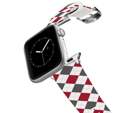 University of Alabama Argyle Team Spirit Apple Watch Band Apple Watch Band C4 BELTS