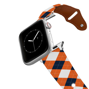 Auburn University Argyle Team Spirit Leather Apple Watch Band Apple Watch Band - Leather C4 BELTS