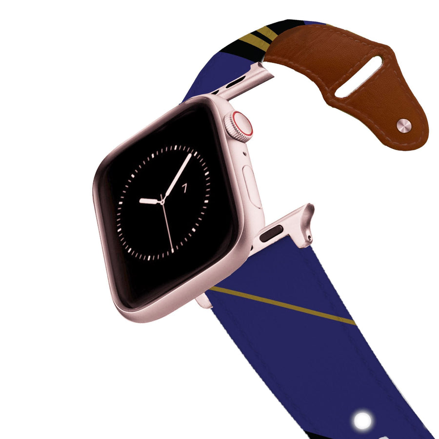 Baltimore Football Color Block Team Spirit Leather Apple Watch Band Apple Watch Band - Leather C4 BELTS
