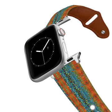 Brook Trout Scales Leather Apple Watch Band Apple Watch Band - Leather C4 BELTS