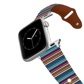 Retro Stripes Cool Leather Apple Watch Band Apple Watch Band - Leather C4 BELTS