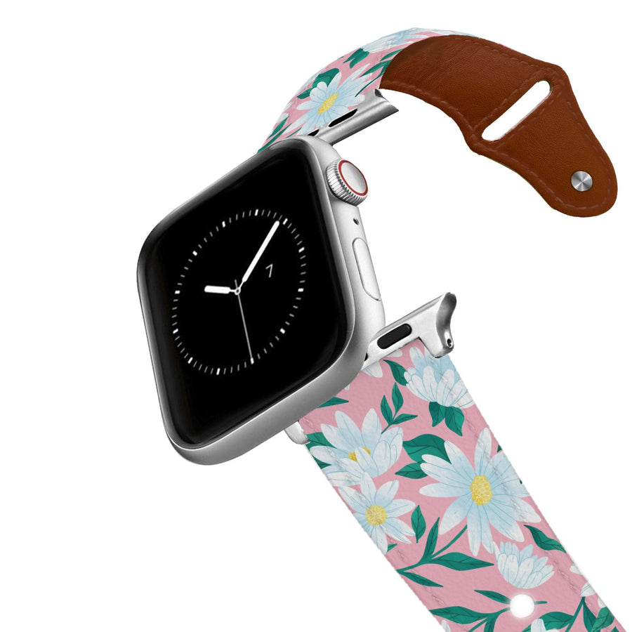 Whoops A Daisy Leather Apple Watch Band Apple Watch Band - Leather C4 BELTS