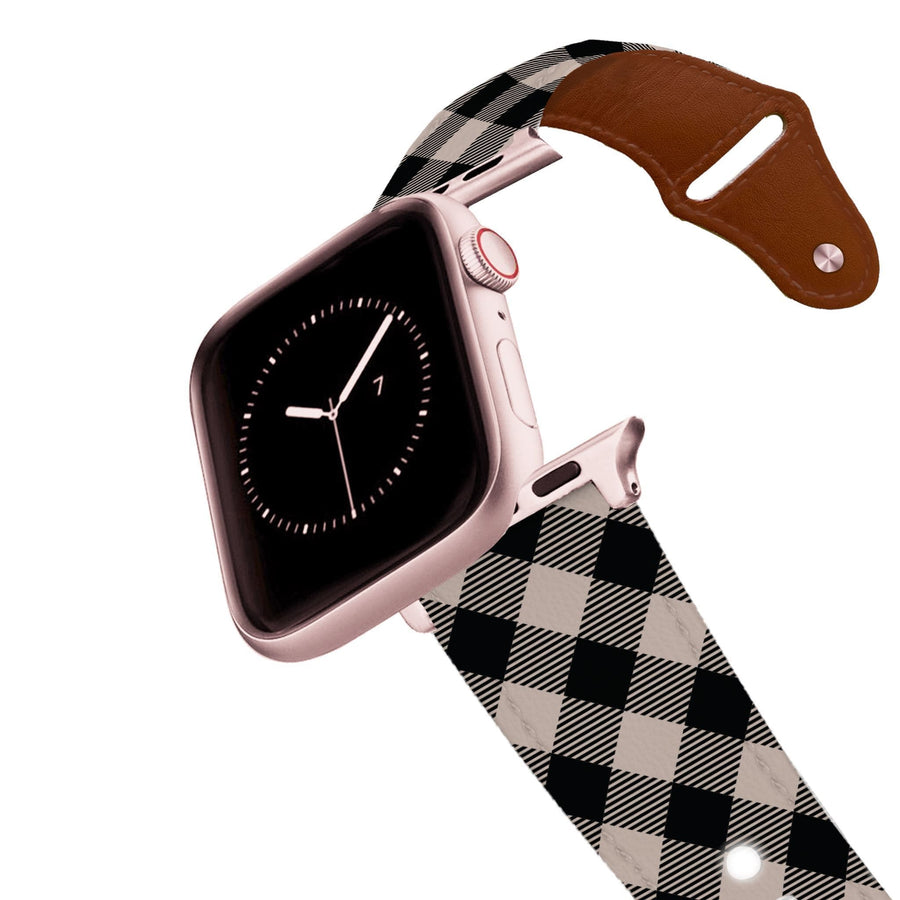Dusk Plaid Leather Apple Watch Band Apple Watch Band - Leather C4 BELTS