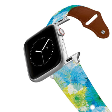 Flower Pop Leather Apple Watch Band Apple Watch Band - Leather C4 BELTS