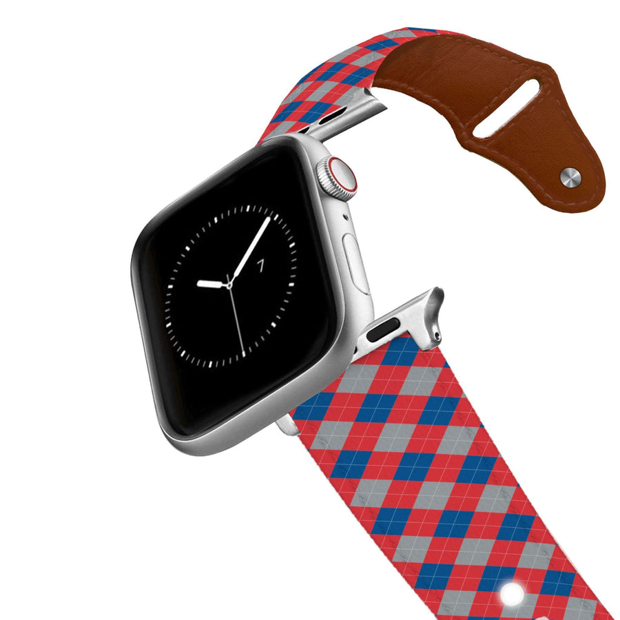 LA Dodgers Argyle Team Spirit Leather Apple Watch Band Apple Watch Band - Leather C4 BELTS