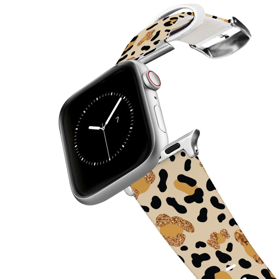 Leopard Shimmer Apple Watch Band Apple Watch Band C4 BELTS
