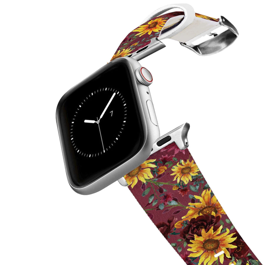 Merlot Sunflowers Apple Watch Band Apple Watch Band C4 BELTS