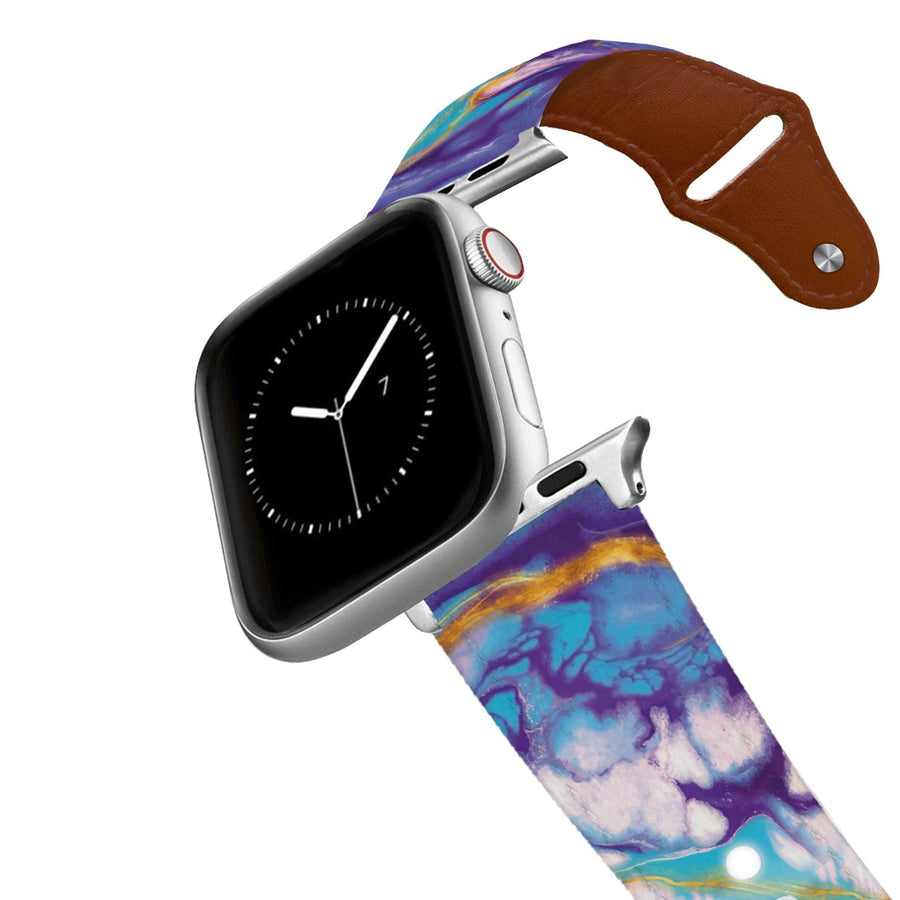 Marble Purple Leather Apple Watch Band Apple Watch Band - Leather C4 BELTS