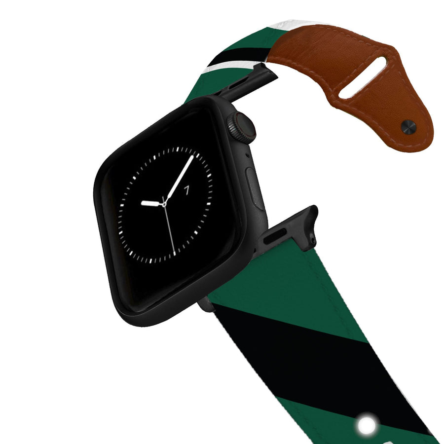 New York Football Color Block Team Spirit Leather Apple Watch Band Apple Watch Band - Leather C4 BELTS