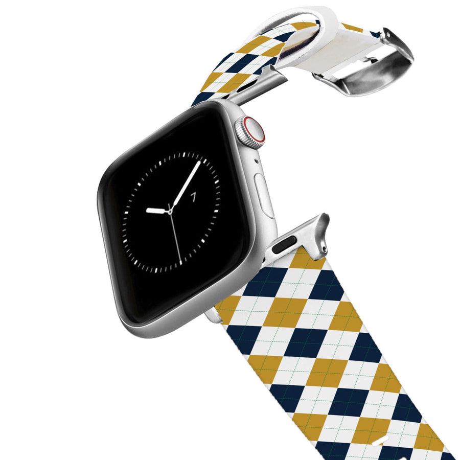 University of Notre Dame Argyle Team Spirit Apple Watch Band Apple Watch Band C4 BELTS