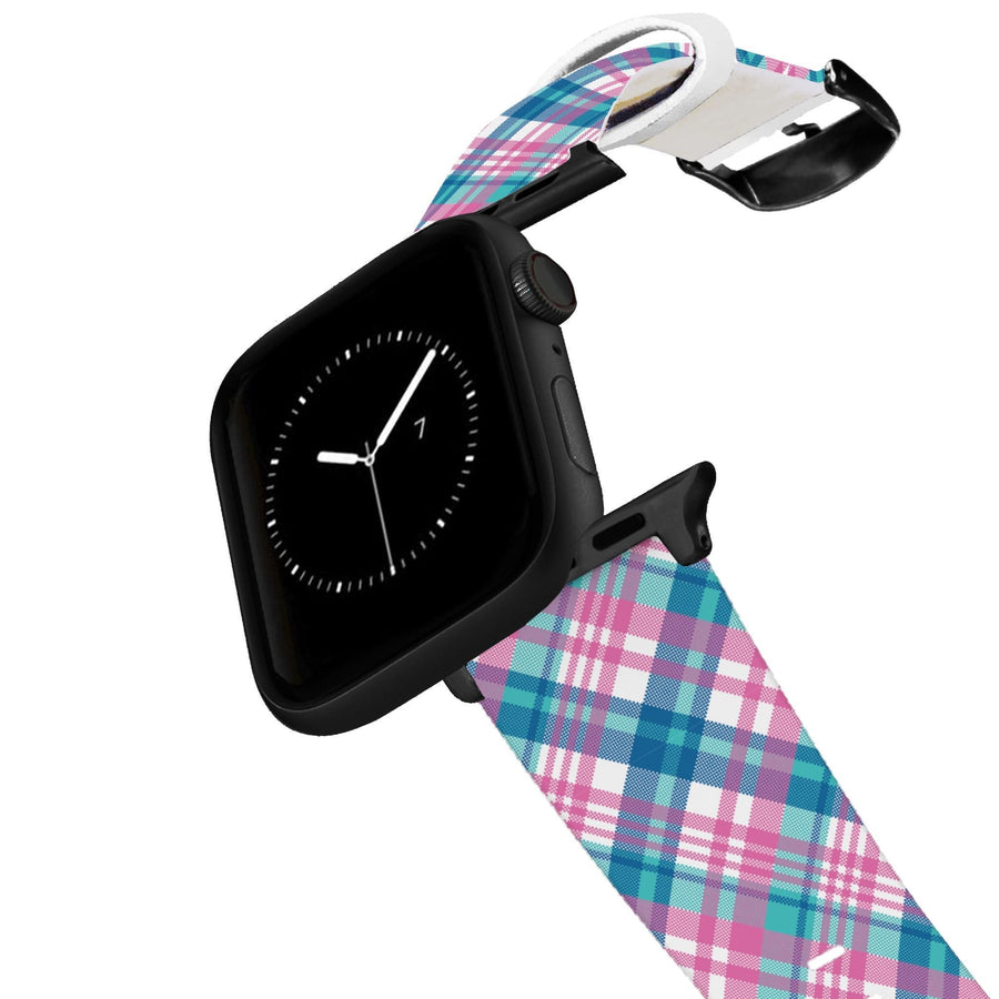 Pink Plaid Apple Watch Band Apple Watch Band C4 BELTS