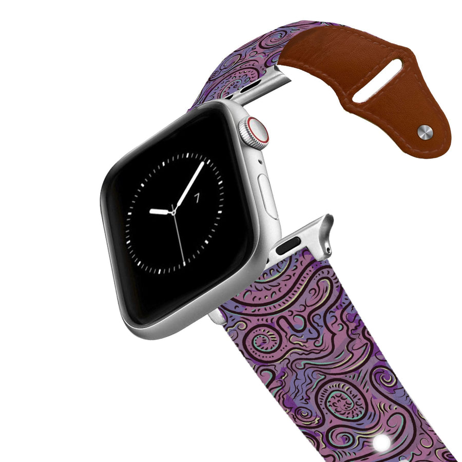 Purple Dream Leather Apple Watch Band Apple Watch Band - Leather C4 BELTS