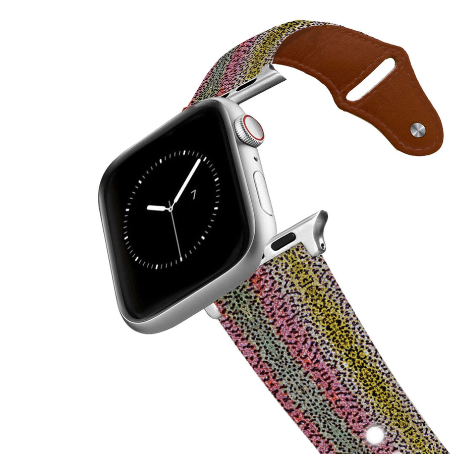 Rainbow Trout Leather Apple Watch Band Apple Watch Band - Leather C4 BELTS