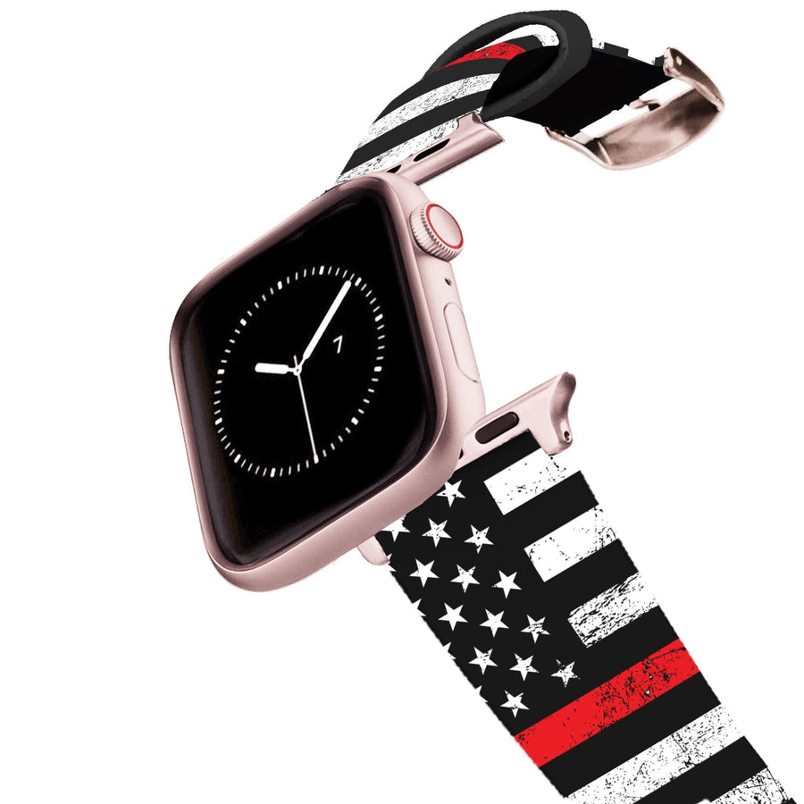 Red Stripe Flag Apple Watch Band Apple Watch Band C4 BELTS