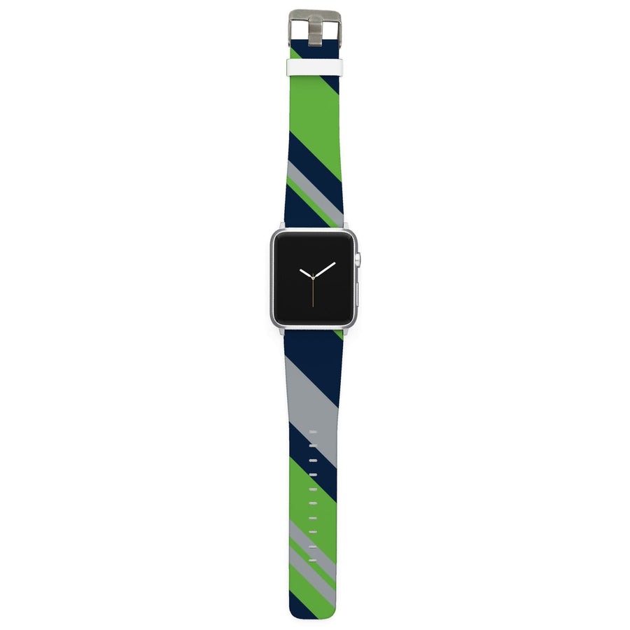 Seattle Football Color Block Team Spirit Apple Watch Band Apple Watch Band C4 BELTS