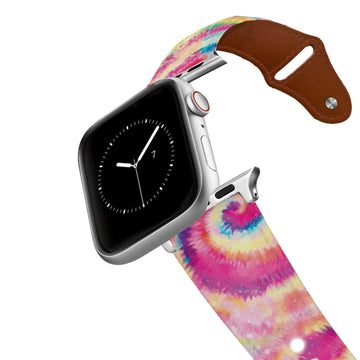 Candy Tie Dye Leather Apple Watch Band Apple Watch Band - Leather C4 BELTS
