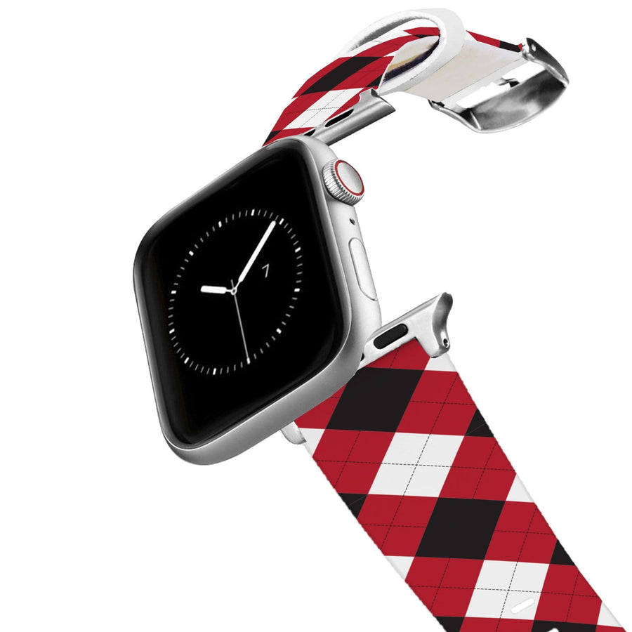 University of Georgia Argyle Team Spirit Apple Watch Band Apple Watch Band C4 BELTS