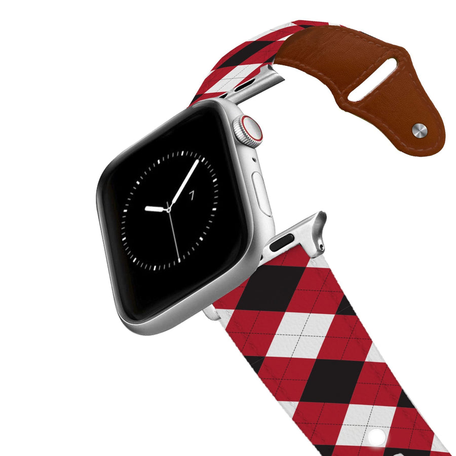 University of Georgia Argyle Team Spirit Leather Apple Watch Band Apple Watch Band - Leather C4 BELTS