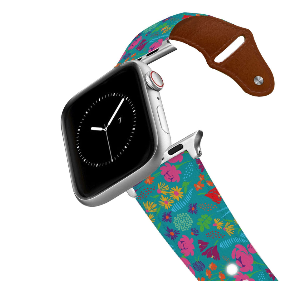 Wildflowers Leather Apple Watch Band Apple Watch Band - Leather C4 BELTS