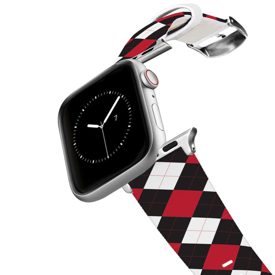 University of Wisconsin Argyle Team Spirit Apple Watch Band Apple Watch Band C4 BELTS